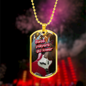 Personalized Necklace For Bass Players