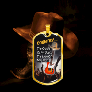 Dog Tag Necklace For Country Music Lovers