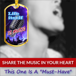 Dog Tags For Singers ♫ Personalized necklaces ♫ Gifts for musicians and music lovers